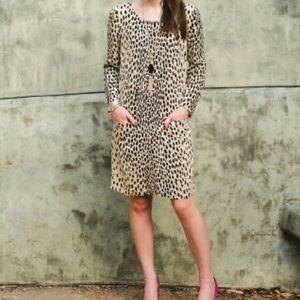 J. Crew Jules Shift Dress in Leopard